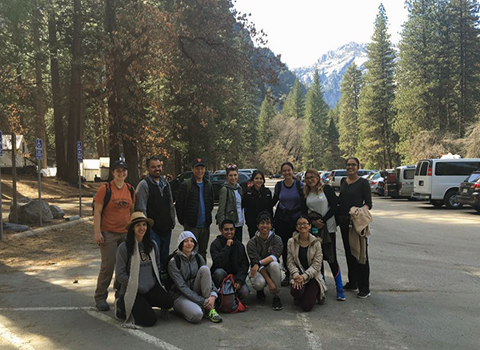 Group photo of NatureBridge externship participants in Yosemite National Park